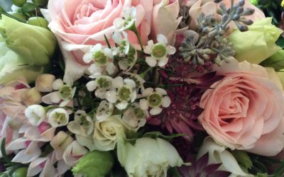 Last minute wedding flowers were my first bridal flowers at Floral Dance